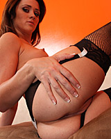 Heather Hurley - Nasty little cock sucker whore chokes on big bone