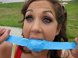 Kiera King - Teen Kiera King gets up tied up and fucked!