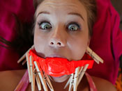 Capri - Hot redhead slut gets tied up and fucked up!
