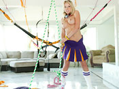 Shawna Lenee - Teen slut fucked hard on a sex swing.