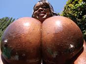 Simone Staxxx - Nasty photos of big jug black slut fucking white dude