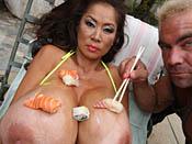 Minka - Smoking hot Asian busty slut drains guy´s cock dry