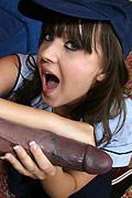 Sarah S - Sarah S sucks off a huge black cock