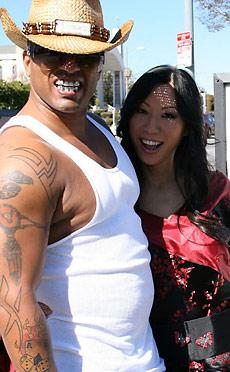 Tia Ling - Tia sucks off a huge black cock