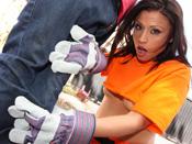 Jayna Oso - Cute City worker gets fuck hardcore by 14 inch dick!