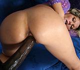 Ana Nova - Hot Young brunette Ana Nova gives blowjob and head on sofa
