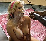 Rachel Solari - Sexy Rachel strips and gives good head