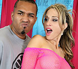 Sarah Jessie - Hot Young brunette Sarah Jessie gives blowjob and head on sofa