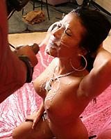 Maya Gates - Hot Maya takes huge cumshot in face