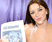 Angelina Korrs - Gorgeous brunette fucks on sofa and takes huge cumshot