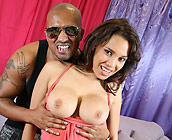 Renae Cruz - Renae Cruz fucks on sofa and takes huge cumshot