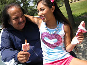 Cali Lee - Teen Cali Lee fucks porn legend Ron Jeremy big cock!