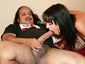 Eve Evans - Stupid young cunt tricked into pleasuring a dirty old man