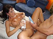 Capri Cavali - Stupid slut Capri gets fucked right on the massage table