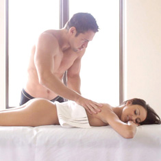 Breanne Benson - Fine brunette gets a really perverted massage.