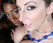 Sara Jay & Ms. Juicy - Big Booty Hoes bouncing on black fat dicks!!!