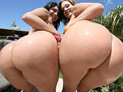 Nikki Sex - Watch two cum swapping sluts in action and wild white whore take the black meat