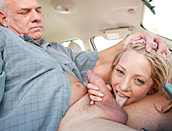 Shawnee Lenee - Young slut seduces old man during driving test and two whores get filthy nasty for fight over monster black cock