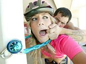 Kara Novack - Biker bitch gets tied, gagged and fucked hardcore!