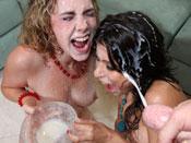 Alexa Nicole - Alexa and hot friend get soaked in hot cum!