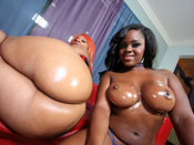 Samone & Vanilla - Samone and Vanilla big booty hoes fuck Super Nigga!