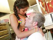 Ruby Reyes - Teen Ruby fucks big old man cock during her lunch break!
