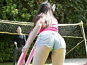Janie Jones - Teen girl roped and fucked in the garden