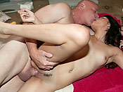 Danni Dillion - Old perv gets his way with a young brat