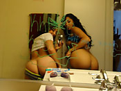 Gia and Khole - Real teen sluts sharing a cock at home