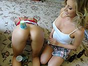 Samantha and Madison - Real teen BFFs sharing a big cock