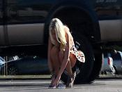 Busty blonde sharking - Busty blonde sharking