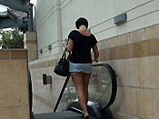 Busty babe sharked in public - Busty babe sharked in public