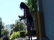 Brunette stalking cumshot - Brunette stalking cumshot