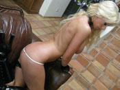 Tanya James - Blonde stripper hottie sucks, fucks and rides her boyfriend!