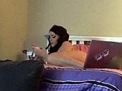 Sophie - Dumb slut gets exposed on her hacked webcam