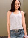 Naughty coed flaunts her amazing teen body