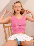 Tight andi in chair stripping nice with her pink vibrator