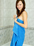 Alluring Nubile Arianna flaunts her sultry wet teen breasts