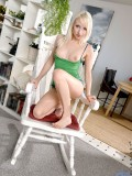 Naughty horny Ashleyjane loosen up on her favorite chair for a while to flaunt her teen privates