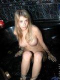Hottie on bubblebath shows her wet rears