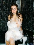 Hottie in the bathtub with bubbles all over her wet slippery perfect body