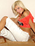 Role model that´s denisa revealing her body all the way on lounge looks great