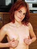 Alluring hot babe katlyn shows off her juicy tits as she pulls up her tank tops