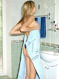 Enticing amateur teenie bares all of her yummy goodies in ladies room