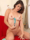 Naughty girl Nicole Rider plays with her pussy using a sex toy