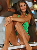 Fresh girl Olesya really loves fruits stroking the banana as a toy on her pussy
