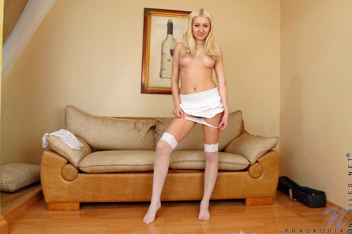 About her legs spread nylons temptress
