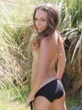 Cute teen tresseme is outside again in her bikini but she takes it off like a good girl
