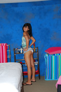 Hot 18 year old brunette gives a sensual massage, followed by a happy endi