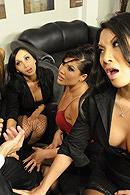London Keyes, Asa Akira, Mia Lelani, Katsuni Pictures in Office 4-Play II: Asian Sensation